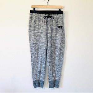 VS PINK Jogger Sweatpants Heather Gray Size L